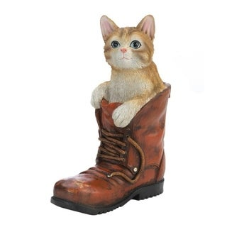 Summerfield Terrace Polyresin Cat In A Boot Garden Decorative Figurine
