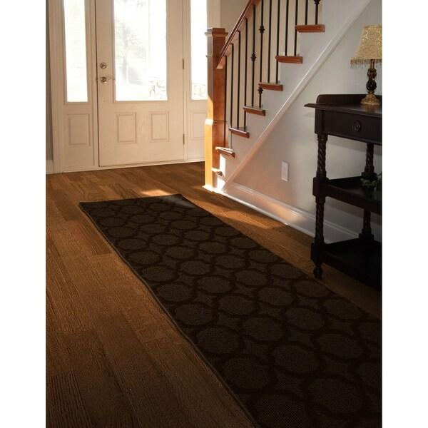Shop Sparta Mocha Large Living Room Area Rug Runner - Free ... on Sparta Outdoor Living id=82680