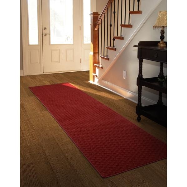 Medallion Chili Red Large Living Room Area Rug Runner