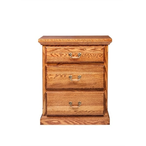 Traditional Three Drawer Nightstand 25W X 30H X 18D