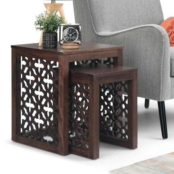 "Carbon Loft Worlock Nesting 2-piece Table - 17"" W x 17"" D x 20.75"" H"