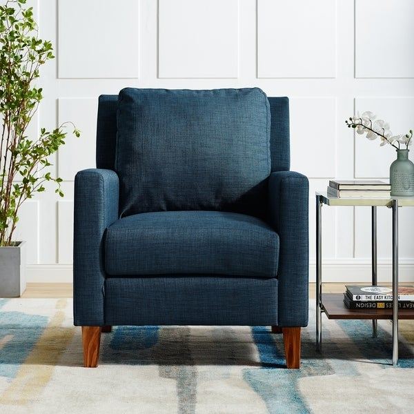 Shop Upholstered Accent Club Chair In Navy Blue 30 X 34