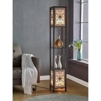 "Artiva USA Infinity Heart Shelf Floor Lamp, 64"", Expresso"