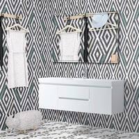 Vanity Art 60-inch LED Lighted Wall Hung Single Sink Bathroom Vanity