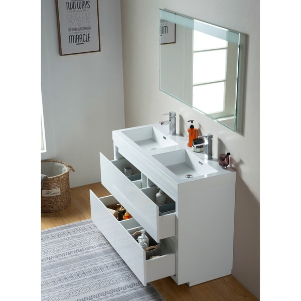 Shop Vanity Art 48 Inch Double Sink Bathroom Vanity With ...