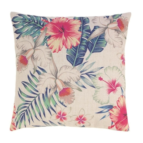 Accent Plus Polyester Maui Island Decorative Throw Pillow