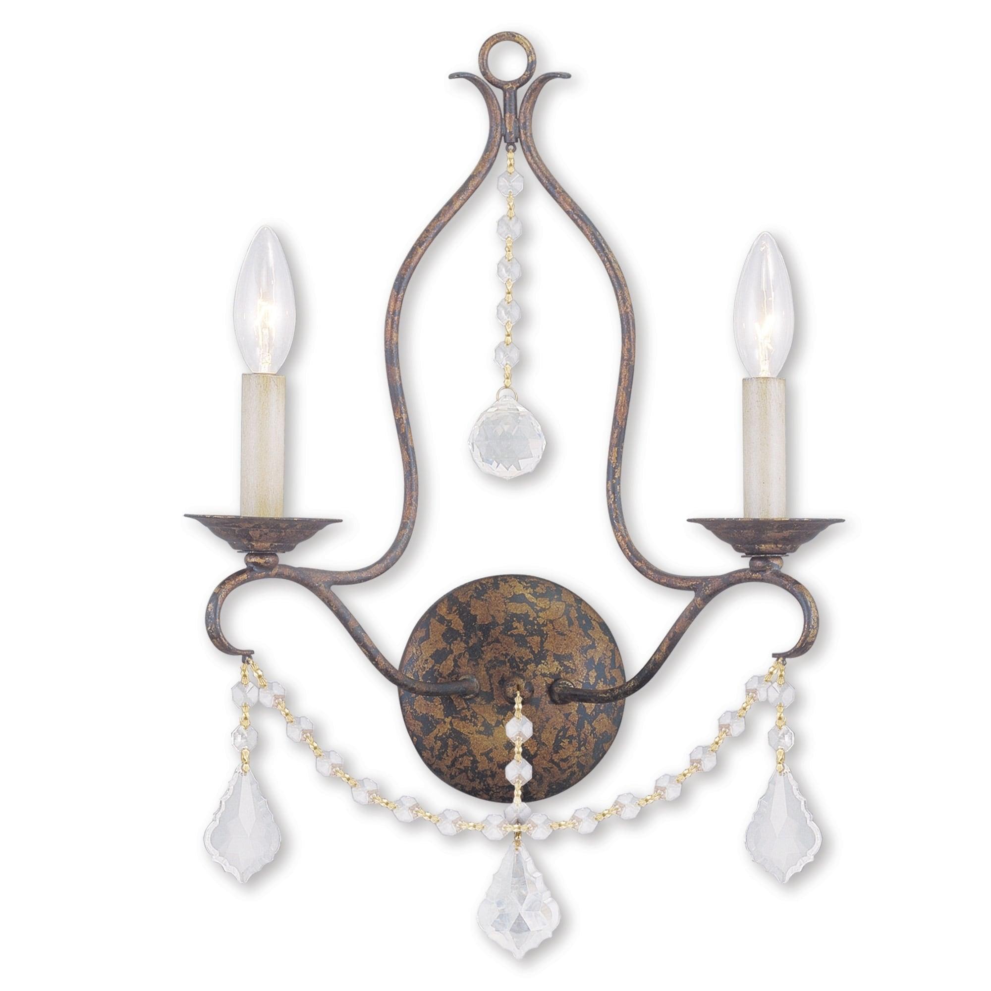Livex Lighting Chesterfield 2 Light Hand Applied Venetian Golden Bronze Wall Sconce Overstock 25693479
