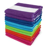KAUFMAN - Cabana Terry Loop Beach & Pool Towel 12-Pack - 30in x 60in - Multi-color