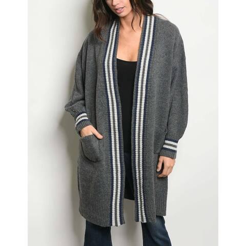 JED Women's Oversized Chunky Knit Cardigan Sweater