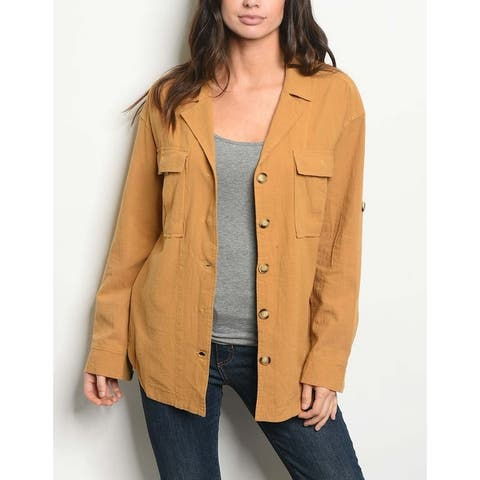 JED Women's Comfy Fit Cotton Overshirt