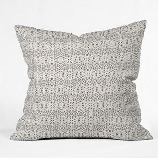 Deny Designs Black Dot Reversible Indoor/Outdoor Throw Pillow (4sizes)