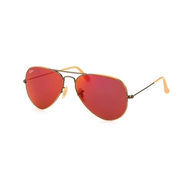 17ae36f76d84c Shop Ray-Ban RB3025 Aviator Large Metal Unisex Sunglasses - Brown - Free  Shipping Today - Overstock - 25693893