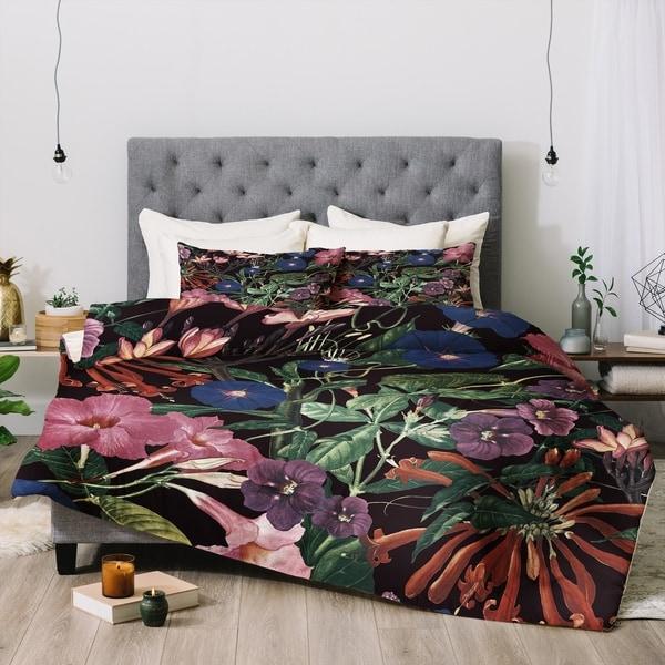 Deny Designs Floral 3-Piece Comforter Set