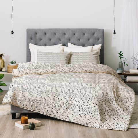 Deny Designs Black Dot 3-Piece Comforter Set