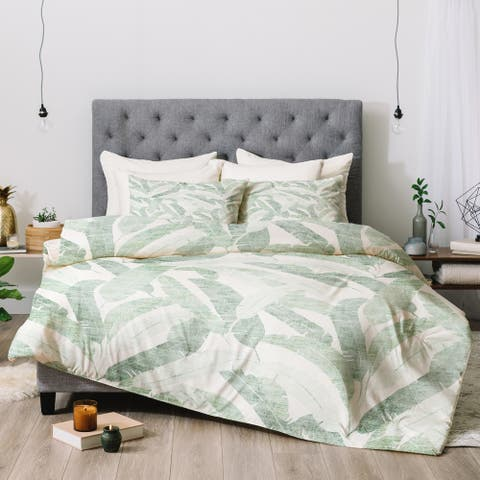 Deny Designs Banana Leaf 3-Piece Comforter Set