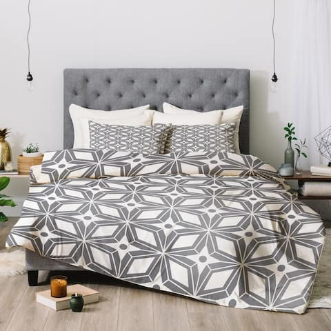 Deny Designs Star Grey 3-Piece Comforter Set