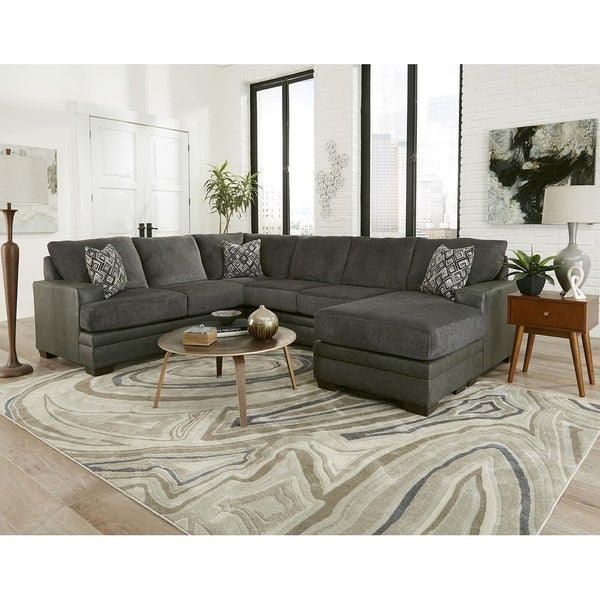Sofatrendz Danity Charcoal Sectional Free Shipping Today 25694005