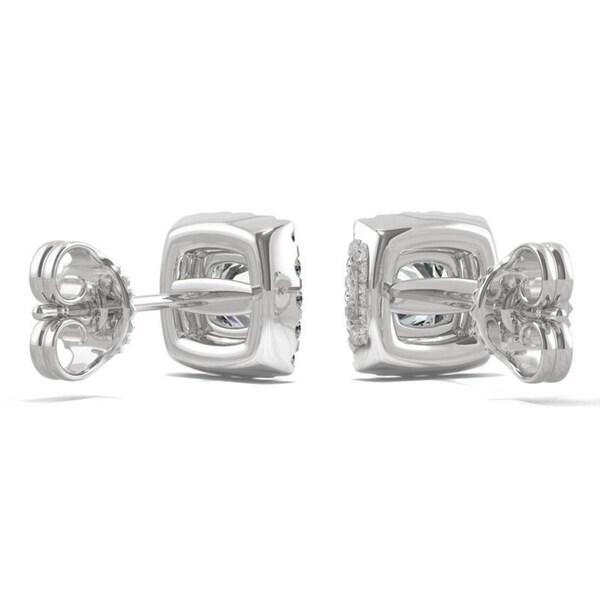 1.32 Carat Diamond Women/'s Screw Back Halo Stud Earrings 14K Yellow Gold
