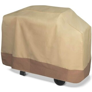 "Barbecue BBQ Gas Grill Cover Waterproof Fade Flame UV Weather Resistant 71"" Beige and Brown"