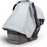 2 in 1 Stylish Chevron Print Breathable Soft Fabric Infant Nursing Baby Car Seat - Grey
