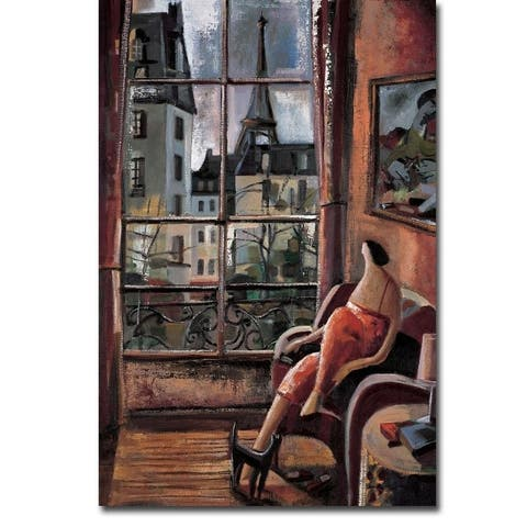 La Vie en Rose (Life in Pink) by Didier Lourenco Gallery Wrapped Canvas Giclee Art (36 in x 24 in)