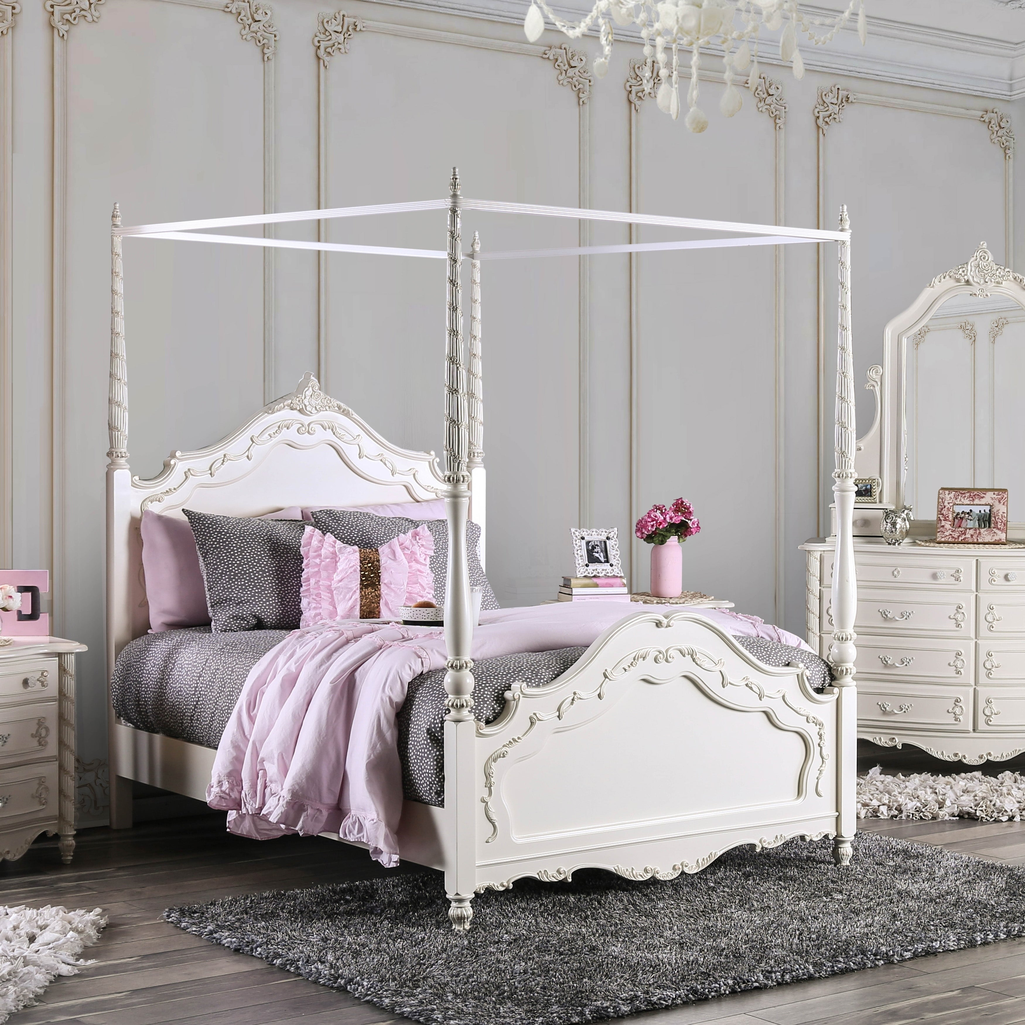 - Shop Furniture Of America Leca Traditional White Twin Princess