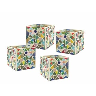 "Springdale 3.25""H Boteri 4-Piece Mosaic Candle Holder Set (Candles Not Included)"