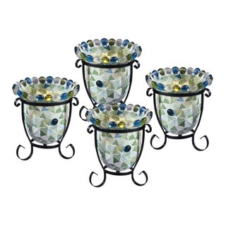 "Springdale 5.5""H Facio 4-Piece Mosaic Candle Holder Set (Candles Not Included)"