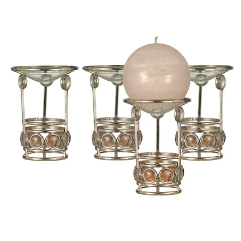 "Springdale 5.25""H Fosca 4-Piece Candle Holder Votive Set (Candles Not Included)"