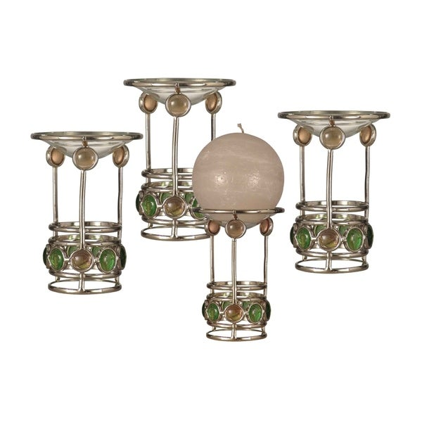 "Springdale 5.25""H Pietro 4-Piece Candle Holder Set (Candles Not Included)"