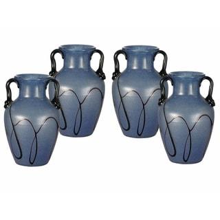 "Springdale 6""H Paulo 4-Piece Art Glass Vase Set"