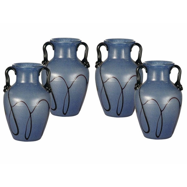 "Springdale 6""H Paulo 4-Piece Art Glass Vase Set"