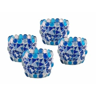 """Springdale 2.75""""H Mazaria 4-Piece Mosaic Candle Holder Set (Candles Not Included)"""