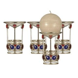 """Springdale 5.25""""H Gem 4-Piece Candle Holder Set (Candles Not Included)"""