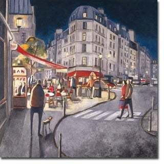 Rendez-Vous a Paris (Meeting in Paris) by Didier Lourenco Gallery Wrapped Canvas Giclee Art (30 in x 30 in, Ready to Hang)