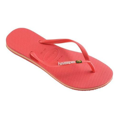 1c523d38bfb8b Shop Women s Havaianas Slim Brazil Flip Flop Coral - On Sale - Free  Shipping On Orders Over  45 - Overstock.com - 21871217