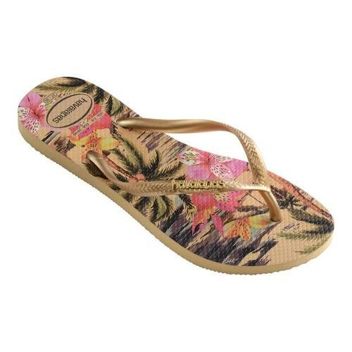 017db9e2ef1a Shop Women s Havaianas Slim Tropical Flip Flop Ivory - On Sale - Free  Shipping On Orders Over  45 - Overstock - 21871228