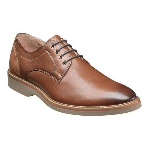 Men's Florsheim Union Plain Toe Oxford Saddle Tan Leather