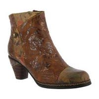 Women's L'Artiste by Spring Step Waterlily Ankle Boot Brown Multi Leather Combo