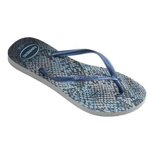 12b7bb566660 Shop Women s Havaianas Slim Animals Flip Flop Grey Navy Blue - Free  Shipping On Orders Over  45 - Overstock - 21937688