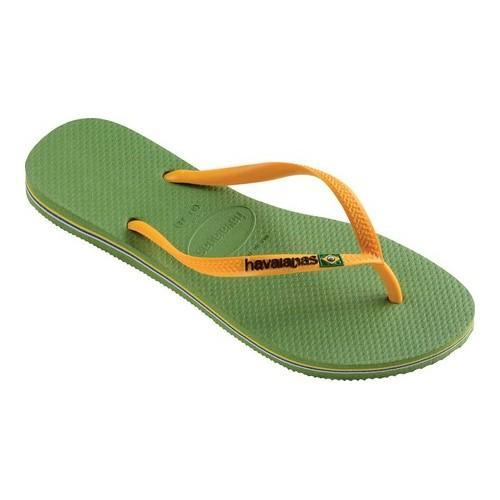f39a88cf7 Shop Women s Havaianas Slim Brazil Flip Flop Green - On Sale - Free  Shipping On Orders Over  45 - Overstock.com - 21937701