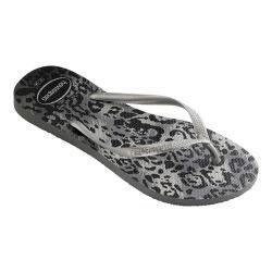 Women's Havaianas Slim Animals Flip Flop Grey/Silver