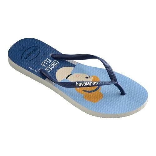 ac61e2e07fd1e Women s Havaianas Slim Princess Flip Flop White Navy Blue - Free Shipping  On Orders Over  45 - Overstock - 27622585