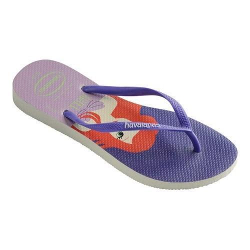 0be1503e4d8d7 ... Women x27 s Havaianas Slim Princess Flip Flop White Purple cost charm  3c5d7 b347a  KIDS ...