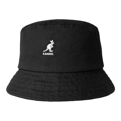 bf17fe1a73374c Shop Men's Kangol Washed Bucket Hat Black - Free Shipping On Orders Over  $45 - Overstock - 21937720