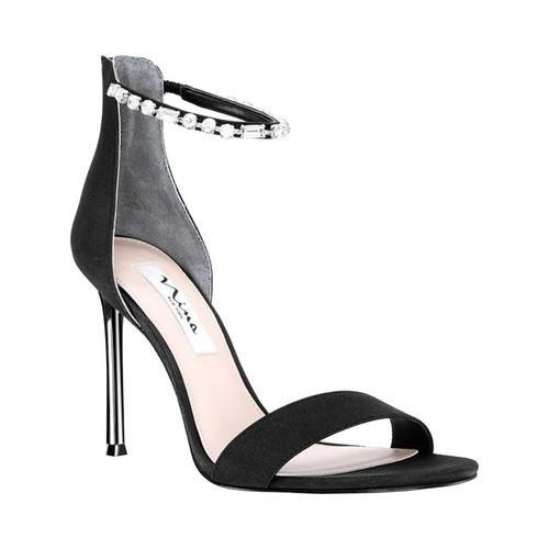 Nina Deena Ankle Strap Stiletto Sandal(Women's) -Midnight Velvet/Satin Buy Cheap Outlet Locations Discount Browse Clearance Best Sale 0SsfVC
