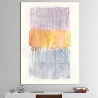 Designart 'Modern Abstract Drive' Cottage Canvas Artwork - Grey