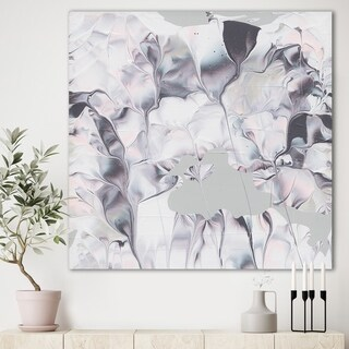 Designart 'Light and Shadow III' Modern Farmhouse Gallery-wrapped Canvas - Grey