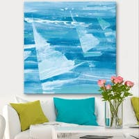 Designart 'From the Shore I' Nautical & Beach Gallery-wrapped Canvas - Blue