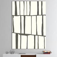 Designart 'minimalist black and white I' Transitional Gallery-wrapped Canvas